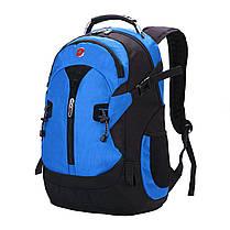 3608f9b4a85f Вместительный рюкзак SwissGear Wenger, свисгир. Синий с черным. + Дождевик.  / s7255