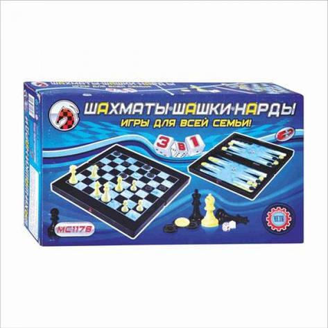 Шахматы 3в1, фото 2