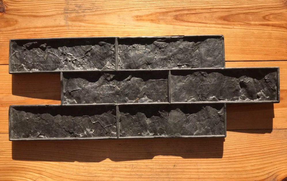 """Резиновый штамп """"Колотый кирпич"""" для настенной печати по бетону и штукатурке 502*198 мм"""