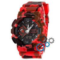 Наручные мужские часы Casio G-Shock GA-110 Military Red