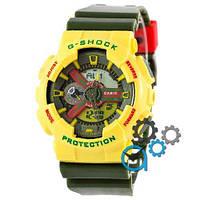 Наручные мужские часы Casio G-Shock GA-110 Yellow-Green