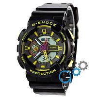 Наручные мужские часы Casio G-Shock GA-110 Black-Yellow
