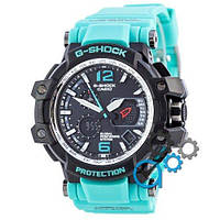 Наручные мужские часы Casio G-Shock GPW-1000 Black-Turquoise Wristband