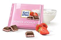 Шоколад Ritter sport ERDBEER JOGHURT (клубника с йогуртом)