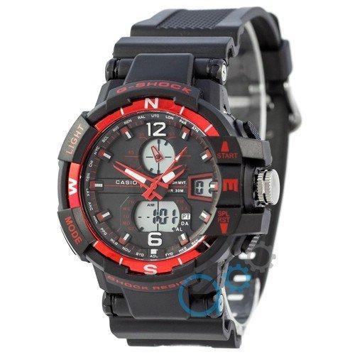 Наручные мужские часы Casio G-Shock 1100SH Black-Red