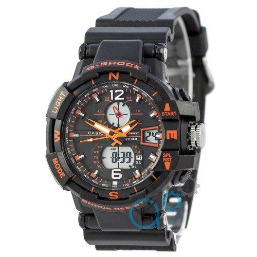 Наручные мужские часы Casio G-Shock 1100SH Black-Orange