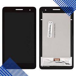 """Дисплей Huawei T1 7.0"""" 3G MediaPad с тачскрином в сборе, цвет черный, копия высокого качества"""