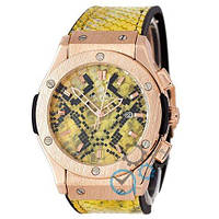 Наручные мужские часы Hublot Classic Fusion Snake Women Quartz Yellow