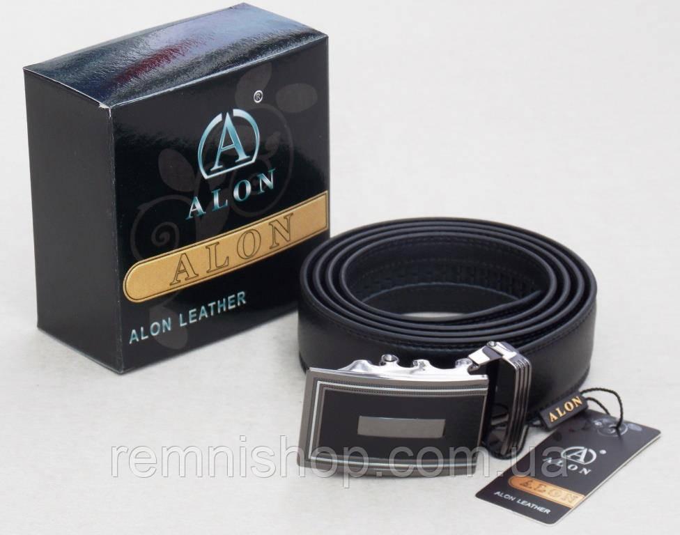 Мужской кожаный ремень ALON с автоматической пряжкой