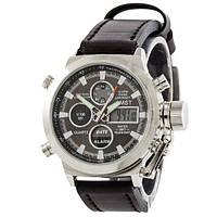 Наручные мужские часы AMST Silver-Black Black Wristband