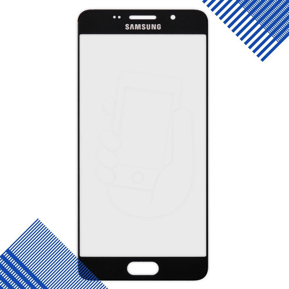 Стекло корпуса для Samsung Galaxy A5 A510F/DS, (2016), цвет черный, уценка