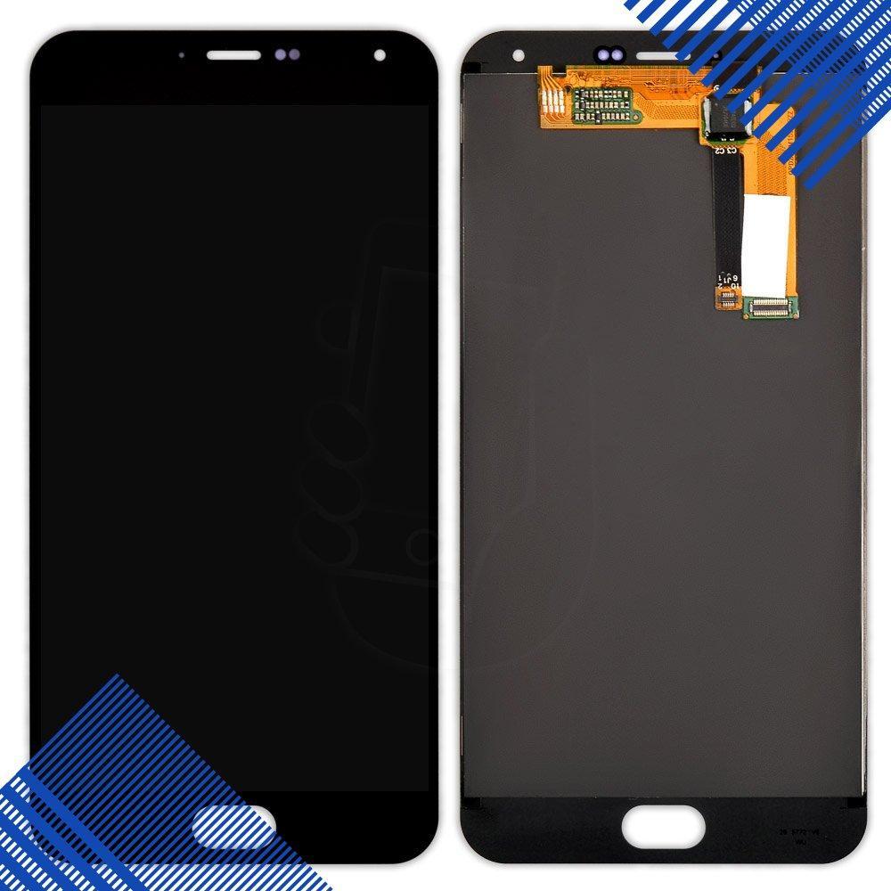 Дисплей Meizu M2 Note с тачскрином в сборе, цвет черный, желтый шлейф