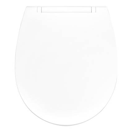 Кришка для унітазу біла з мікроліфтом BOLERO AWD02181443