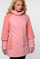Демисезонная удлиненная женская куртка Фаина, размер 48. ТМ Nui Very, Украина