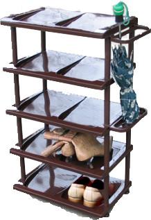 Пластиковая полка для обуви  (5 полок), 490 * 320 * 850мм