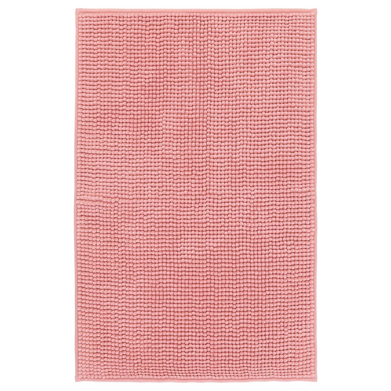 ТОФТБУ Килимок для ванної, рожевий, 50х80, 40422258, IKEA, ІКЕА, TOFTBO
