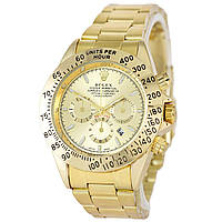 Наручные мужские часы Rolex Daytona Quartz Date All Gold