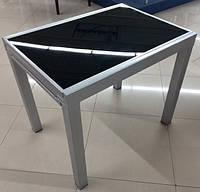 Стеклянный раскладной обеденный стол DF-302T  900(1800)