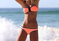 Супер сексуальный купальник на молнии оранжевый цвет