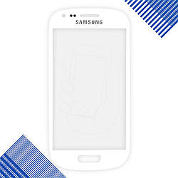 Стекло корпуса для Samsung i8190 Galaxy S3 mini, цвет белый
