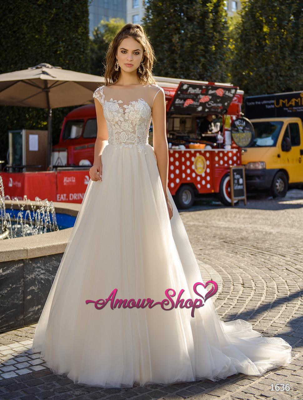 Недорогое легкое свадебное платье