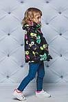 Курточка для девочки демисезонная принт Совы, фото 2