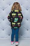 Курточка для девочки демисезонная принт Совы, фото 4
