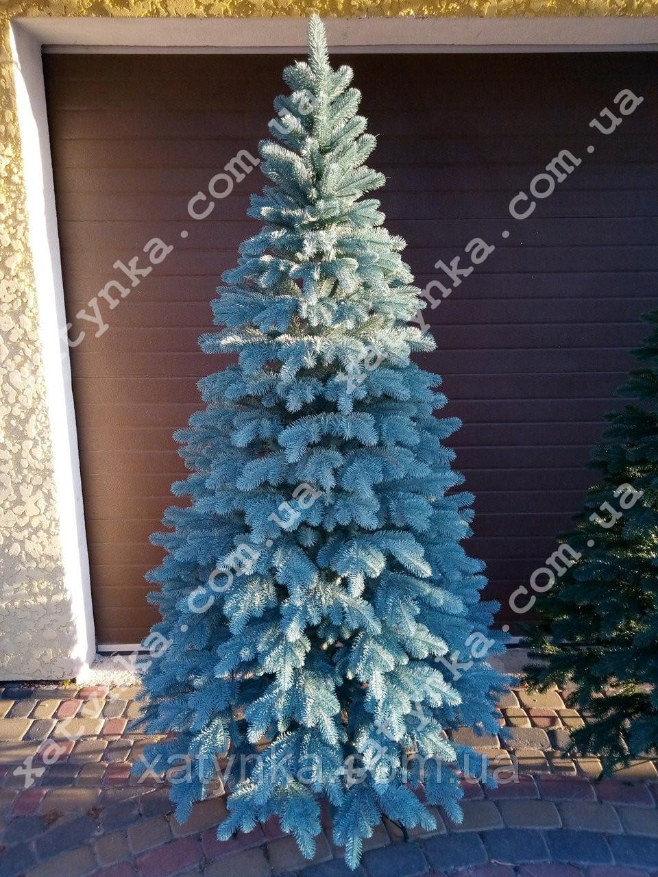 Литая елка Елитная 1.80м. голубая / Лита ялинка / Ель / ёлка пластиковая литая / Эль искусственная