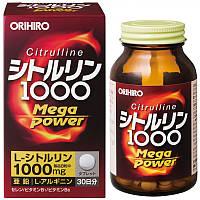 ORIHIRO Цитруллин Mega Power 1000 + аргинин, витамины, цинк, селен 240шт 30дней Япония Japan