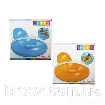 Надувное кресло для отдыха Intex 137 х 122 см , фото 2
