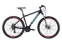 """Гірський велосипед LEON XC 90 AL DD AM 27.5""""(чорно-бірюзовий з помаранчевим)18r, фото 1"""
