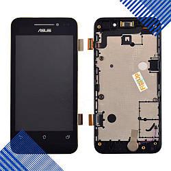 Дисплей Asus ZenFone 4 (A400CG) с тачскрином и рамкой в сборе, цвет черный