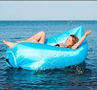 Надувной гамак-ламзак 190*120 см плавательный прорезиненная ткань