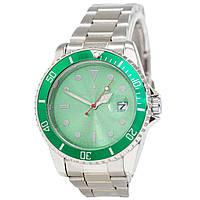 Наручные мужские часы Rolex Submariner Quarts Silver-Green