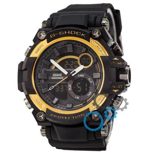 Наручные мужские часы Casio G-Shock GST-202 Black-Gold
