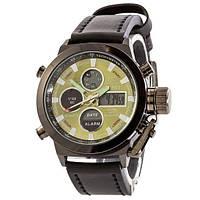Наручные мужские часы AMST C Black-Green Black Wristband