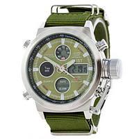 Наручные мужские часы AMST C Silver-Green Green Wristband