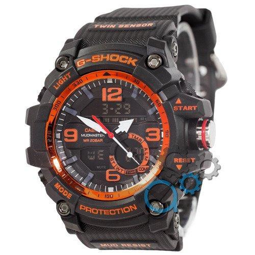 Наручные мужские часы Casio G-Shock GG-1000 Black-Orange