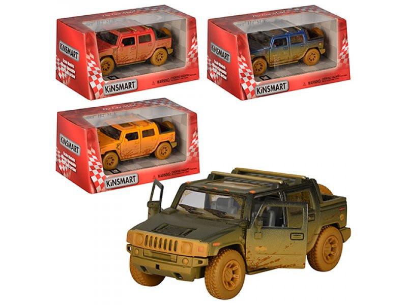 Джип Kinsmart Hummer H2 SU інерційний, металевий, 1:40, гумові колеса, 4 кольори, в коробці 16-7,5-8 см