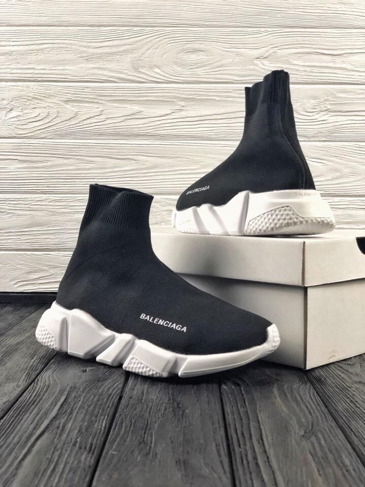 Кроссовки черные BALENCIAGA Speed trainer 37-45