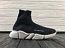 Кроссовки черные BALENCIAGA Speed trainer 37-45, фото 5