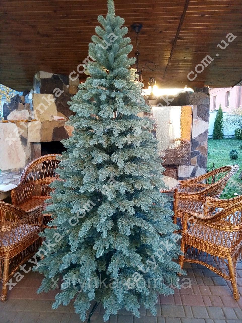 Литая елка Елитная 2.10м. голубая (Бесплатная курьерская доставка)