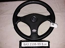 Руль ВАЗ 2108-99-10-12-13-15 3 спицы Вираж М для авто