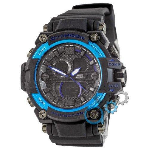 Наручные мужские часы Casio G-Shock GWA-1045 Black-Blue