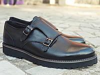Туфли мужские кожаные броги / Monki