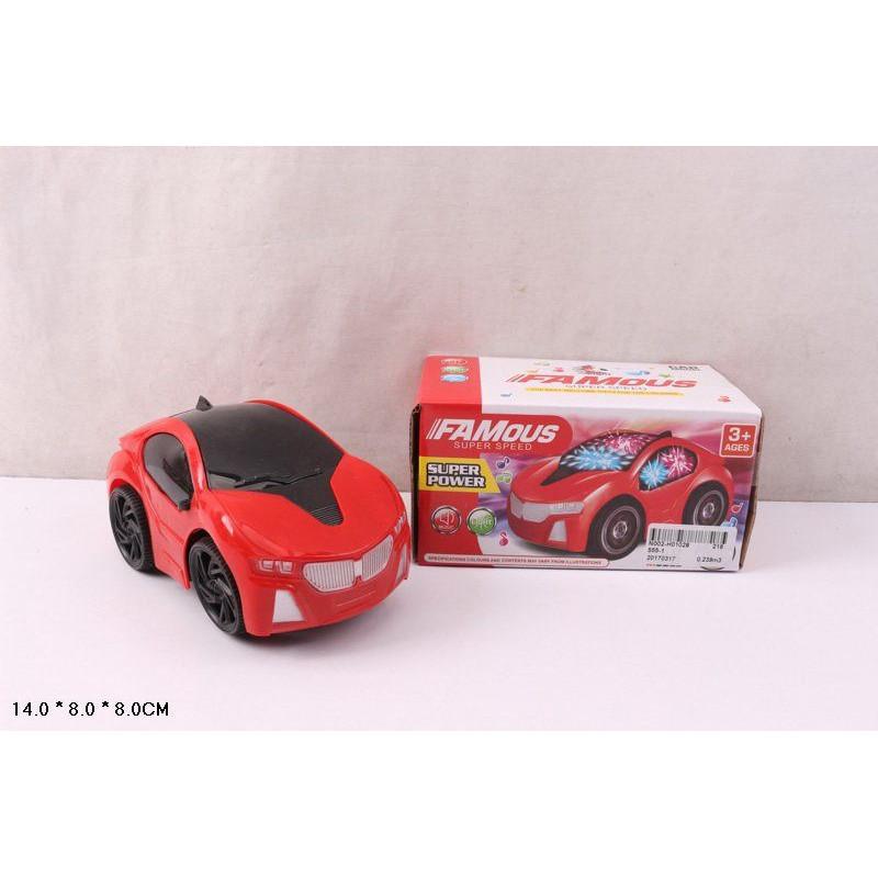 Машина на батарейки, 555-1/3 світло, звук, в коробці, 14х8см