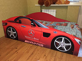 Детская кровать Elit MERCEDES E-4 с подъемным механизмом 80х170 красная