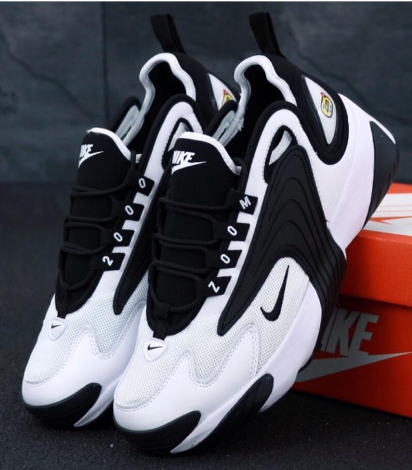 Мужские Кроссовки Nike Zoom 2K, Найк Зум Белые/Черные