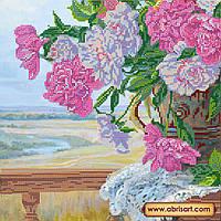 """Схема для вышивки бисером на натуральном холсте """"Любимые цветы"""" AC-211"""