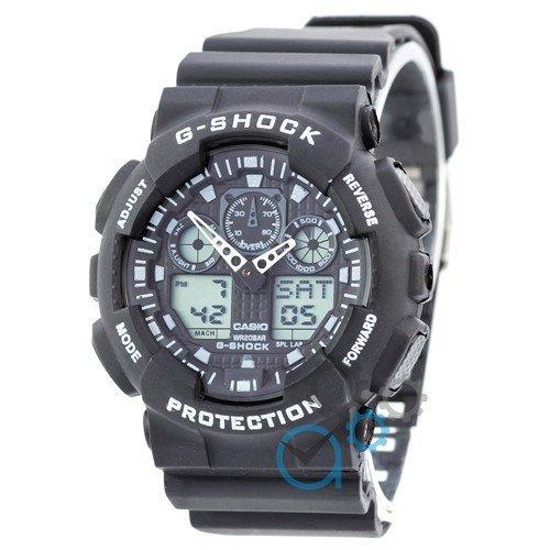 Наручные мужские часы Casio G-Shock GA-100 Black-White